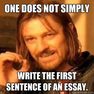 starting a body paragraph in an essay